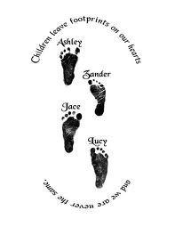 Baby Footprint Tattoo <3 minus the big saying around it