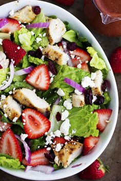 Strawberry Chicken Salad Reminds me of Panera