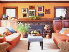 Traditional Color Combinations with Orange