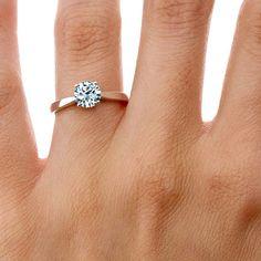 14K Rose Gold Petite Tapered Trellis Ring