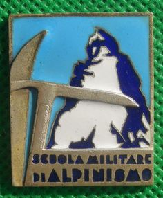 distintivo alpino fregio cappello alpini medaglia scuola alpinismo cai