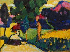 "Wassily Kandinsky - ""Murnau - Summer Landscape"", 1909"