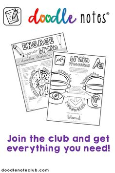 Join the doodle note club and get everything you need to create your own amazing doodle notes that bring creativity into your classroom!  They are perfect for middle school, high school, and even elementary students!  The doodle note method uses research to improve memory, retention, and engagement.