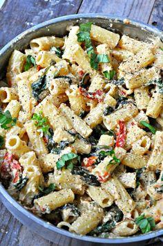Vegan Tuscan Rigatoni - Rabbit and Wolves Vegan Dinner Recipes, Vegan Dinners, Beef Recipes, Vegetarian Recipes, Cooking Recipes, Healthy Recipes, Pasta Recipes, Rigatoni, Rice