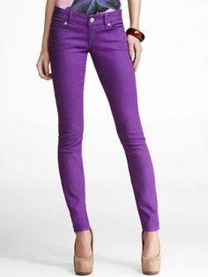4ad16dee725 Color on bottom- Zelda Jean Legging from Express Purple Skinny Jeans