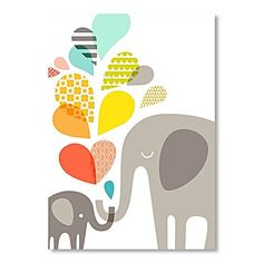 With heart-warming contemporary design, the Elephants Print Art from Americanflat gives new delight to your décor.