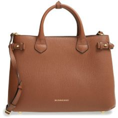 Burberry 'Medium Banner' Leather Tote - Beige
