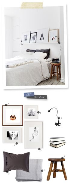 If no room for locker...  Get the Look: Form & Function - all white bedroom | lark&linen | #simple #decor #bedroom #white