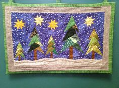aberdaisy: christmas tree quilted wallhanging
