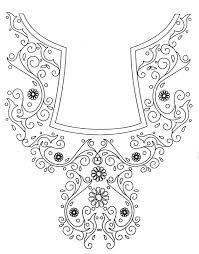 embroidery designs sketches for ladies suits - Google Search