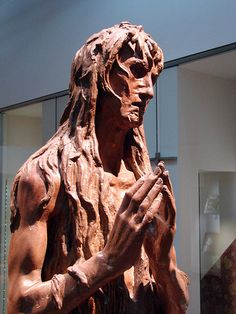Mary Magdalene by Donatello. this statue is truly stunning. this changed everything i felt about Donatellos body of work in an instant. its lovely, activated, impressionistic, its way ahead of its time. simply marvelous.