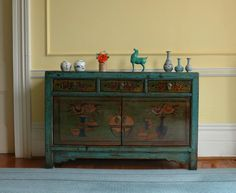 Hand Painted Teal High Lacquer Cabinet L130W40H84cm c.1920 Xi'an China. Elegant yet solid. #interiordesign #chinesefurniture #chineseantiquefurniture #antiquefurniture #homeinteriors #chineseantiques #chineseornaments #nookdeco #nookdecofurniture #uniquefurniture #handmade #asianfurniture #restoredfurniture #vintagefurniture #cliftonarcade #thecliftonarcade #bristolfurniture #bristolinteriordesign #bristolantiques #bristol #boutiquefurniture #boutiqueshop #boutiqueshopping #bristolboutique…