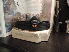 Dragon eye crown Black leather with by AbbotsHollowStudios on Etsy