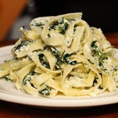 Pasta with Spinach and Ricotta Cheese.  Oh my ever lovin' goodness.  You will…