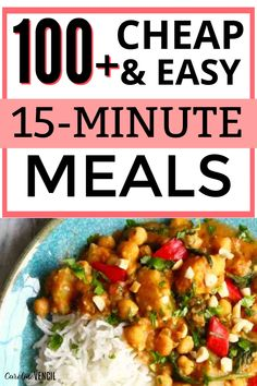 The best cheap dinner ideas for a family that won't break the bank and actually taste good. #cheapdinnerdieas #budgetfriendlydinnerideas 15 Minute Dinners, Fast Dinners, Cheap Dinners, Quick Meals, Dinner On A Budget, Dinner Ideas, Dinner Recipes, Fast Easy Dinner, Cooking On A Budget