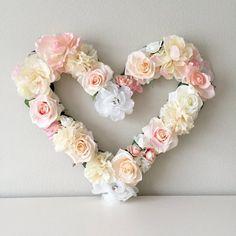 Custom Flower Walls, Signs, Nursery & Wedding Decor by BegoniaRoseCo Baby Wall Art, Nursery Wall Art, Nursery Decor, Baby Decor, Nursery Themes, Nursery Room, Baby Room, Room Decor, Heart Decorations