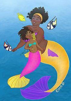 Mermaid Artwork, Person Of Color, Black Art Painting, Black Mermaid, Black Angels, Mermaids And Mermen, Paint And Sip, Merfolk, Black Is Beautiful
