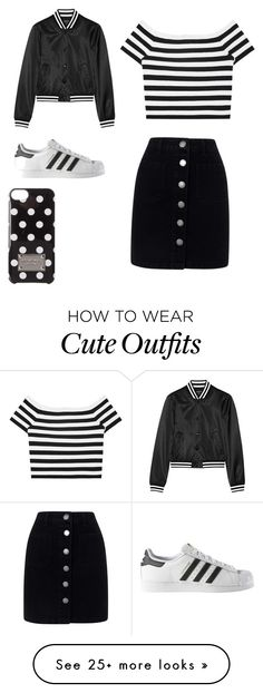 """Cute and casual outfit"" by outfits-by-julieke on Polyvore featuring R13, Alice + Olivia, adidas, MICHAEL Michael Kors and Miss Selfridge"