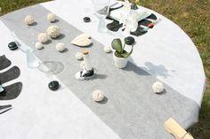 Chemin table arabasque noir et argent, chemin table noel, chemin table pour la décoration de votre mariage