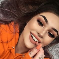 """9,784 Likes, 19 Comments - BROWGAME (@browgame) on Instagram: """"Orange is my happycolor  @megfeather"""""""