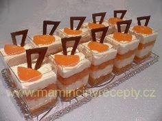 Kelímky mandarinka Dessert Recipes, Desserts, Mini Cakes, Panna Cotta, Cheesecake, Minis, Candy, Food, Smoothie