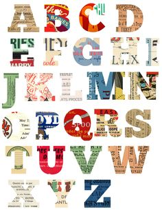 freebie: printable alphabet