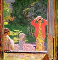 Pierre Bonnard (French, 1867-1947), In Front of the Window, 1918. Oil on canvas