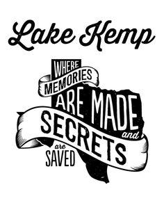 Lake Kemp Shirt Design by Samantha Schaffer, via Behance