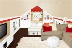 Great attic family room.