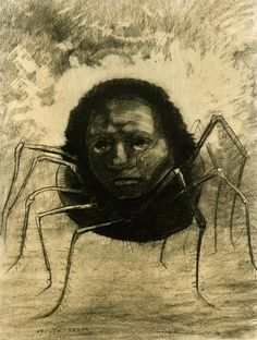 Odilon Redon - The Crying Spider - Fine Art Print