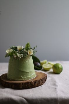 vegan angel food cake with avocado lime frosting 2