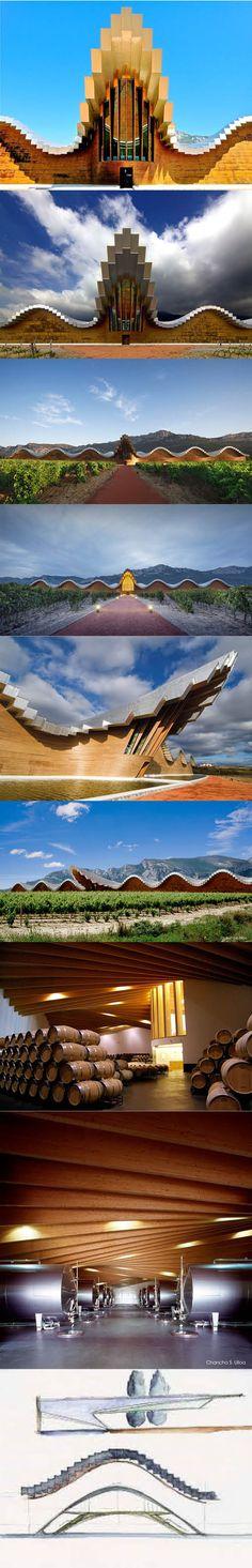 2000 Calatrava - Bodegas Ysios / Laguardia Spain / wood metal sinc
