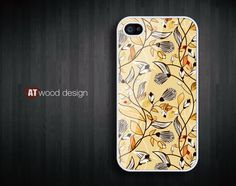 iphone 4 case iphone 4s case iphone 4 cover yellow style  illustrator  flower graphic design printing. $16.99, via Etsy.