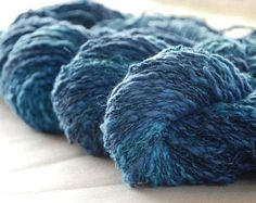 BLUE MOON  ~  COTTON/Linen yarn ~ worsted/Aran weight by appleoakfibreworks. Explore more products on http://appleoakfibreworks.etsy.com