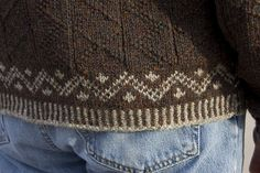 Chocolate Franken-Sweater by cranky.pants, - FREE PDF pattern on Rav ......' Newfoundland Pullover' by Barbara Harpur