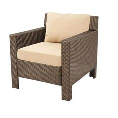 Hampton Bay Beverly Patio Deep Seating Lounge Chair with Beige Cushions-65-9102331B at The Home Depot