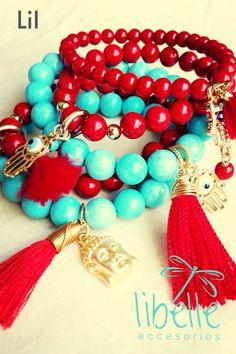 Rojos y turquesas