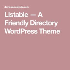 Listable — A Friendly Directory WordPress Theme