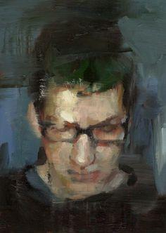 un cas de vous (autoportrait comme Haley), huile Tyler D Graffam sur panneau, 5x7 & # 8221 ;, 2013