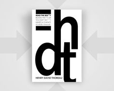 Henry David Thoreau Quote Read the best by EscapeModulePrints, $6.99
