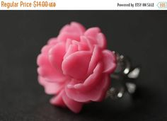 MOTHERS DAY SALE Hot Pink Flower Ring. Pink Rose Ring. Hot Pink Ring. Fuchsia Ring. Adjustable Ring. Silver Ring. Handmade Ring. Handmade Je by StumblingOnSainthood from Stumbling On Sainthood. Find it now at http://ift.tt/1TIQI6S!