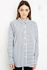 Cheap Monday Shelly Shirt in Stripe Print at Urban Outfitters
