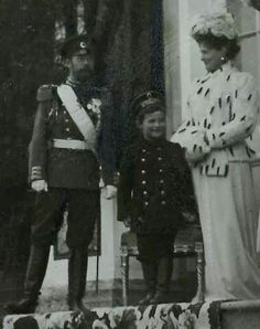 Tsar Nicholas ll of Russia ,Empress Alexandra Feodorovna of Russia and Tsarevich Alexei