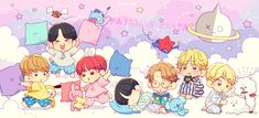 """🐯🍓ᴜ ᴛ ᴀ🍓🐰 on Twitter: """"☆*。。。*☆*。。。*☆… """" Anime Computer Wallpaper, Bts Wallpaper Desktop, Cartoon Wallpaper, Cute Wallpapers, Kaws Wallpaper, Chibi Boy, Cute Chibi, Anime Chibi, Computer Theme"""