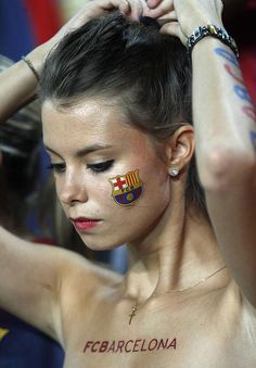 FC Barcelona football fan... yep.... all the girls likes Barcelona