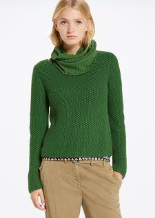 Strick-Pullover irish green