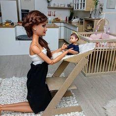 Baby Barbie, Barbie Dolls Diy, Barbie Fashionista Dolls, Barbie Hair, Barbie Doll House, Barbie Toys, Juste Zoe, Accessoires Barbie, Sewing Barbie Clothes
