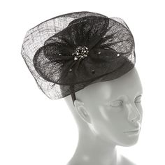 <P>This headband makes a grand fashion statement. Layers of black mesh embellished with silver and black beads that swoop and curve lay on top a thin black headband. Perfect to pair with your little black dress for sassy vintage style.</P><P><B>Headband</B> by <B>Balfour</B></P><UL><LI>Online only item<LI>Bla...