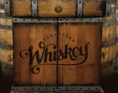 Rustic Dartboard Cabinet Jim Beam Devil S Cut By Whiskey