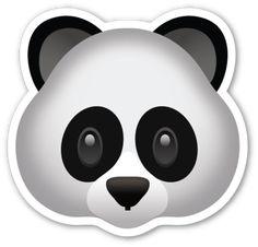 Panda Face | EmojiStickers.com